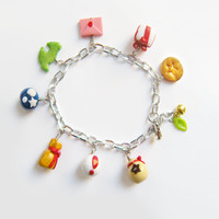 Animal Crossing: New Leaf inspired charm bracelet