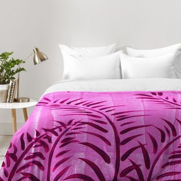 Madart Inc. Tropical Splash Pink Comforter | DENY Designs Home Accessories