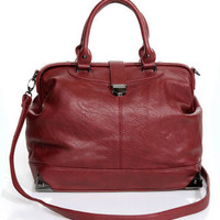 Oxblood Handbag - Doctor-Inspired Bag - Vegan Leather Handbag - $42.00