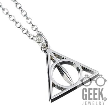 Official Sterling Silver Harry Potter Deathly Hallows Necklace