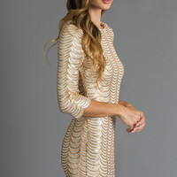 Bianca Gold Curtain Sequin Dress