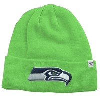 '47 Brand Seattle Seahawks Raised Cuff Beanie - Action Green