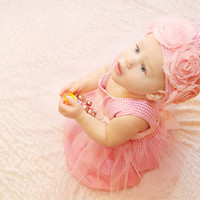 1st birthday  pink baby girl princess dress photo by bonbonLand