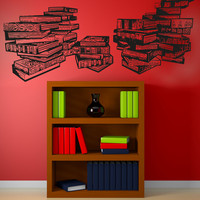 Vinyl Wall Decal Sticker Library Books #5061