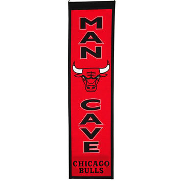 Chicago Bulls NBA Man Cave Vertical Banner (8 x 32)