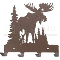 7in. Metal Wall Hooks - Northern Territory - Moose - Rust