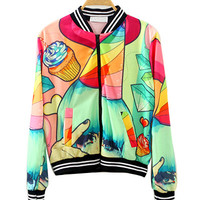 Colorful Patterns Bomber Jacket