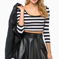 Stripe A Pose Crop Top $28