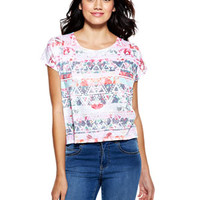 Allover Floral Tribal Tee - Multi