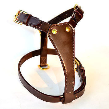 New Leather  Dog Harness in all sizes SADDLES EHS