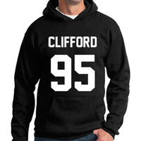 5sos Hoodie Michael Clifford 95 Hooded Sweatshirt Logo Black White Gray Red Maroon Unisex Hoodie Tee S,M,L,XL #1