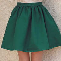 The Wicked Emerald Skirt  // size large