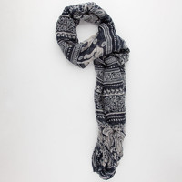 Elephant Paisley Scarf Navy One Size For Women 25247821001