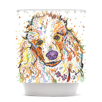 "Rebecca Fischer ""Lily"" Poodle Shower Curtain"