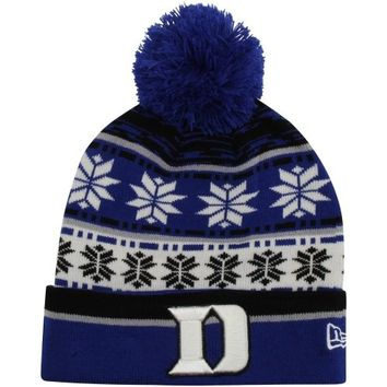 New Era Duke Blue Devils Pom Blitz Knit Hat - Duke Blue