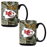 Kansas City Chiefs 2-pc. Open Field Ceramic Mug Set