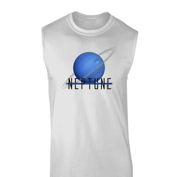 Planet Neptune Text Muscle Shirt