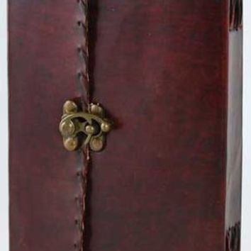 AzureGreen BBBLPOE 1842 Poetry Leather Blank Book With Latch