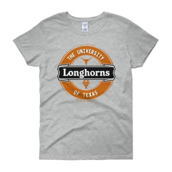 Texas Longhorns: Women's Lager Label-inspired short sleeve t-shirt; up to 3XL