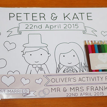 Personalised Wedding Children's Activity Pack - Page Boy Gift - Bridesmaid Gift - Flowergirl Gift - Childrens Wedding Favour