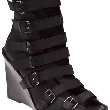 Ann Demeulemeester Strappy Wedge Boot