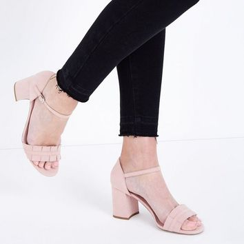 Nude Comfort Flex Suedette Frill Strap Sandals | New Look