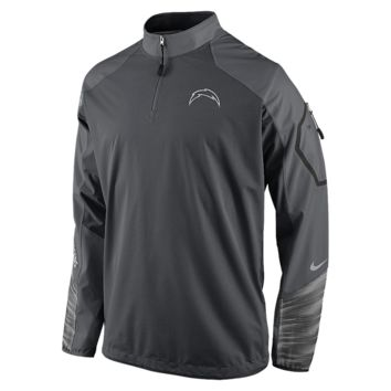 Nike Platinum Fly Rush 2.0 Half-Zip (NFL Chargers) Men's Training Top Size Small (Grey)