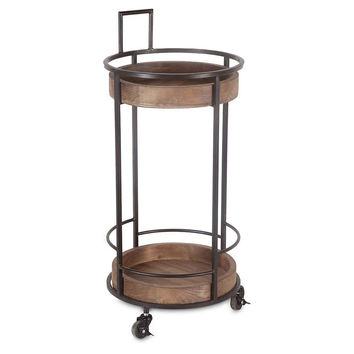 Darius Round Bar Cart, Bar Carts