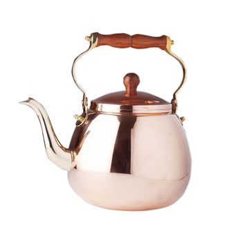 Solid Copper Tea Kettle with Wood Handle by Old Dutch International