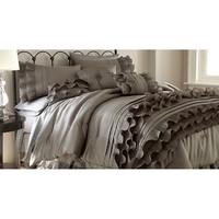 Colonial Home Textiles Platinum Frills Comforter Set | zulily