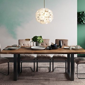 Carter Rustic Elm Dining Table