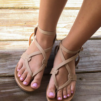 Midnight Swim Natural Sands Strappy Sandals