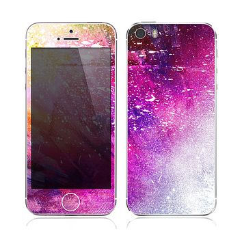 The Abstract Neon Paint Explosion Skin for the Apple iPhone 5s
