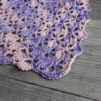 Crochet spring shawl bohemian triangle scarf lace wool shawl lilac evening wrap pink rustic shawl winter statement gift bridesmaid shawl