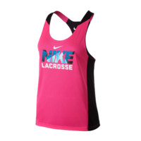Nike Women's Reverible Tank - Pink/Black | Lacrosse Unlimited