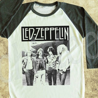 Led Zeppelin tshirt rock tshirt heavy metal shirt women tshirt unisex tshirt baseball shirt 3/4 long sleeve tshirt S M L