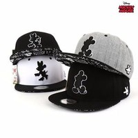 NWT DT09 Authentic Disney Mickey Mouse Silhouette Snapback Hat Baseball Cap