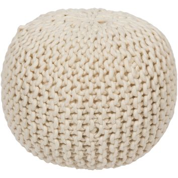 DeSoto Handcrafted Wool Pouf - Home Decor | Surya
