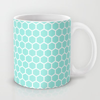 Honeycomb Tiffany Blue Mug by Beautiful Homes