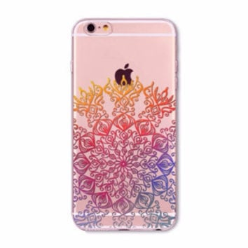 Rainbow Mandala Boho Case for iPhone 5 5s SE 6 6s