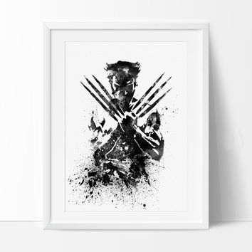 Wolverine X MEN Watercolor Art Print, Wolverine Poster, Wall Art Poster Giclee Wall Decor, Wolverine Wall Hanging, Superhero Art - 22