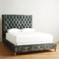 Slub Velvet Orianna Bed by Anthropologie