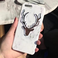 Customized Marble and Deer iPhone 7 7Plus & iPhone se 5s 6 6 Plus Case Best Protection Cover +Gift Box-124