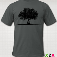 Natural State (eBook under a Tree) - American Apparel Graphic T-shirt
