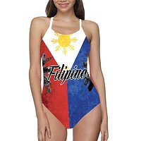 Phillipines Flag Bathing Suit