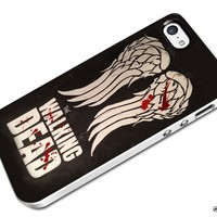 DCD - Blood Wing Daryl Dixon The Walking Dead Custom Case for Iphone 4/4s 5 5c 6 6plus (iPhone 5c White)