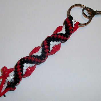 Red, White, and Black Cobra Keychain