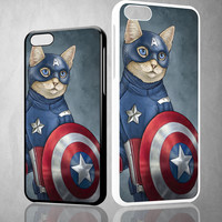 CAPTAIN AMERICA CAT Z0998 iPhone 4S 5S 5C 6 6Plus, iPod 4 5, LG G2 G3 Nexus 4 5, Sony Z2 Case