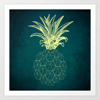 y-hello pineapple Art Print by AmDuf