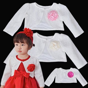 Baby Girls Lace Coat Princess Shrug Short Cardigan Infant Bolero Jackets Outerwear Toddlers Wedding Party Dress Shawl Cape Naist